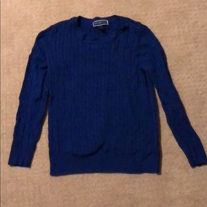 Karen Scott blue sweater